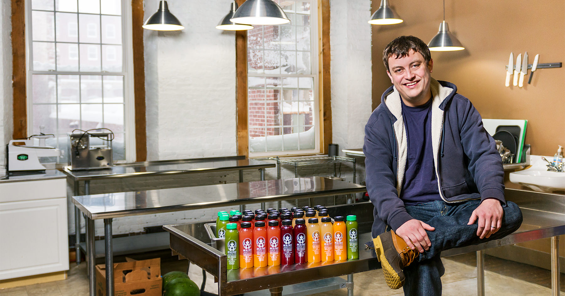 Tim Nickerson, of Maine Juice Company, Makers of Cold Press Juice